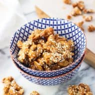 Honey Roasted Sesame Cashew Clusters