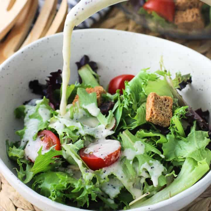 sweet onion poppy seed salad dressing