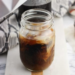 Cold Brew Coffee with Almond Brown Sugar Syrup