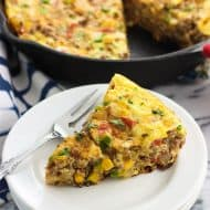 Hearty Southwestern Frittata with Potato and Beef