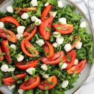 Marinated Caprese Salad with Kale