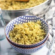 Parmesan Pesto Cauliflower Rice