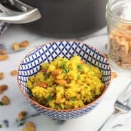 Coconut Turmeric Quinoa with Cashews