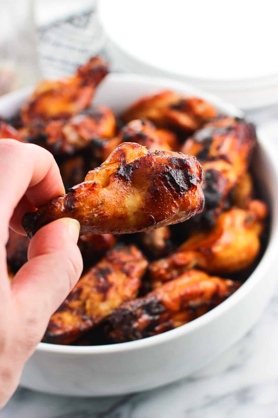 These Spicy Soy Chicken Wings are marinated in a mix of pantry staples and then grilled for a juicy and flavorful main dish or appetizer.