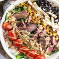 Southwestern BBQ Steak Salad