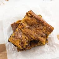 Fudgy Chocolate Chip Pumpkin Swirl Brownies