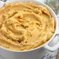 Garlic Chipotle Mashed Potatoes with Cheddar
