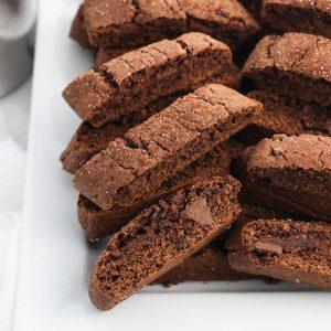 Mini Mexican Chocolate Biscotti
