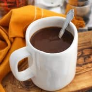 Thick and Creamy Mocha Hot Chocolate