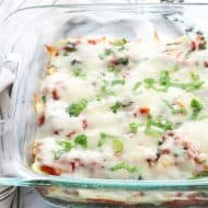 Baked Ravioli with Spinach and Mozzarella