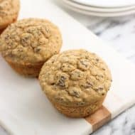 Healthy Whole Wheat Banana Chia Muffins