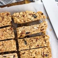 Spiced Maple Quinoa Granola Bars