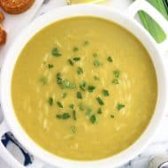 Healthy Potato Leek Soup with Orzo
