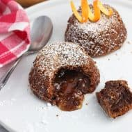 Mini Chocolate Orange Lava Cakes