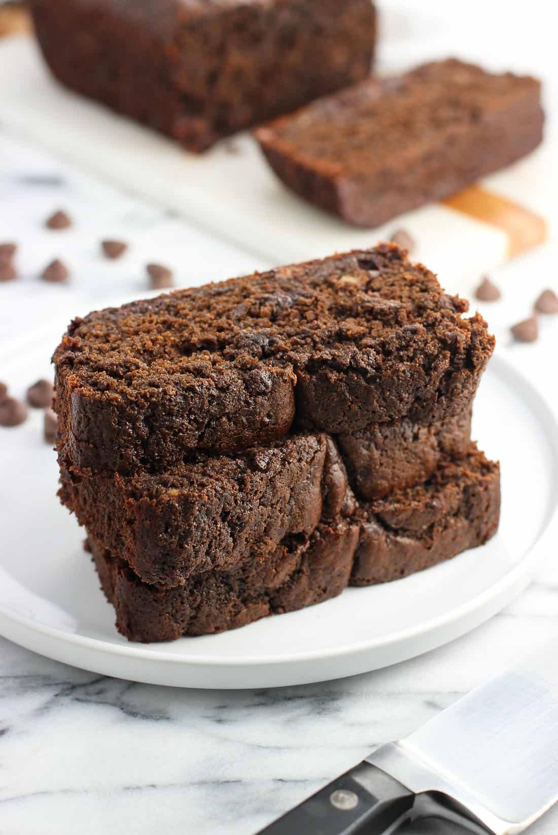 Chocolate malted banana bread is moist with rich chocolate and roasty malted flavor. This more decadent take on banana bread isn't overly sweet, but would make a wonderful sweet snack or dessert.