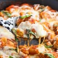 Chicken Parmesan Gnocchi Skillet
