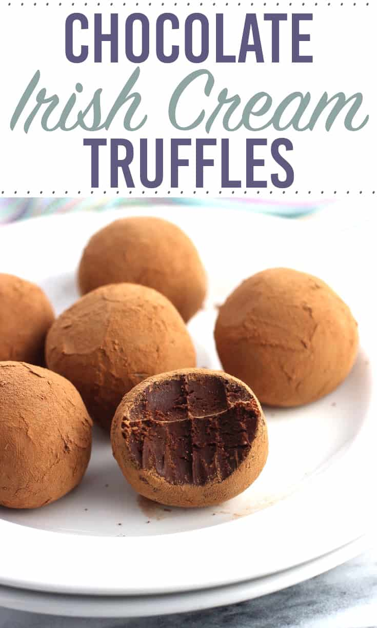 Chocolate Irish Cream Truffles are a rich and flavorful no-bake dessert that couldn't be easier! This chocolate truffle recipe yields a small-batch for indulgence in moderation. Just six truffles with noticeable Irish cream flavor!
