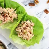 Smoky Chicken Salad Lettuce Wraps