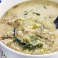 Creamy Italian Wedding Soup with Turkey Meatballs