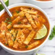 Easy Chicken Tortilla Soup with Rice