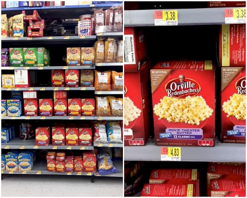 Find Orville Redenbacher's Movie Theater Butter at Walmart.