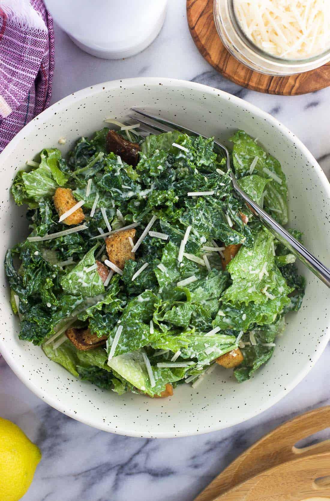 Greek Yogurt Kale Caesar Salad